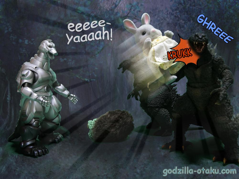 Rose: eeeeeyaaaah! (KRUKK) Godzilla 2000 Millennium: GHREEE